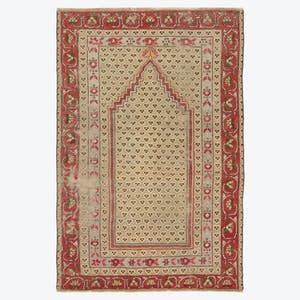 "Product Image - Vintage Turkish Rug - 3'3""x4'11"""