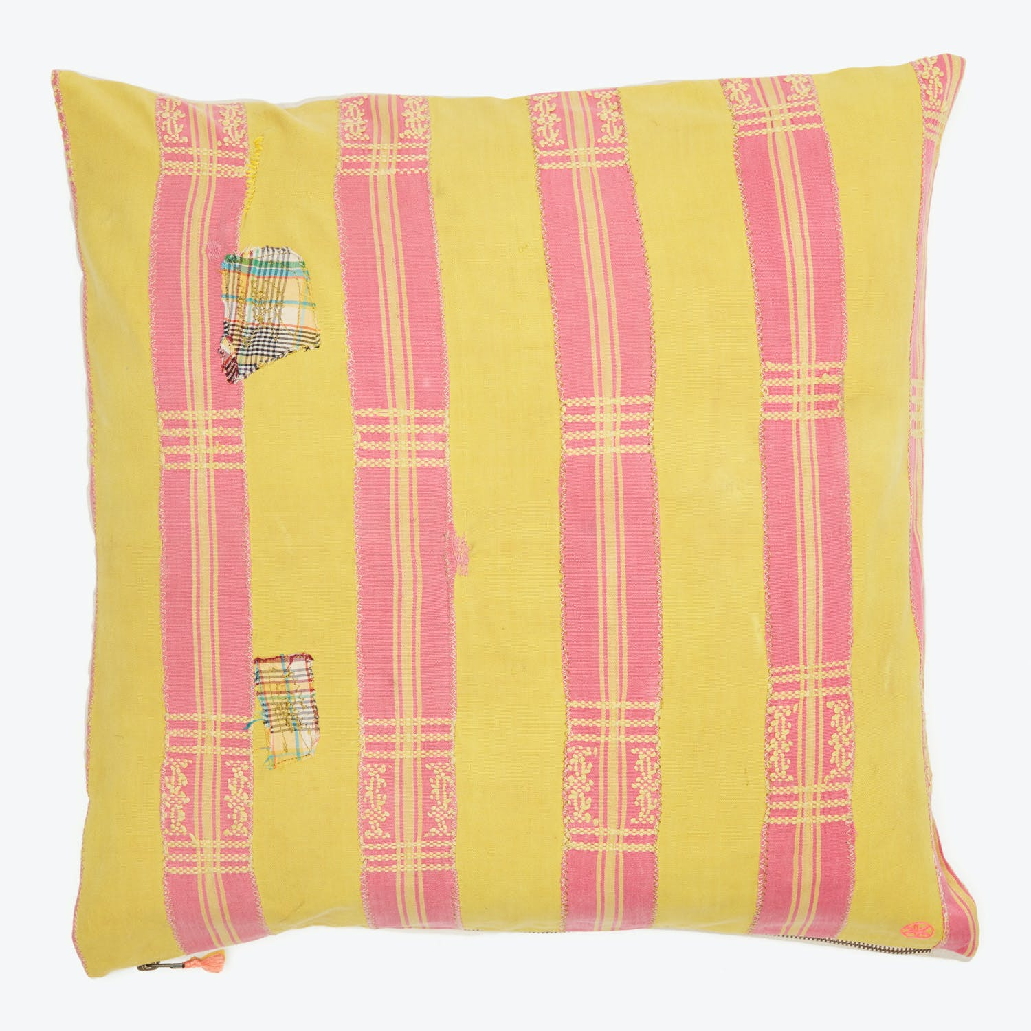 abcDNA Mfumi Pillow Yellow Patchwork