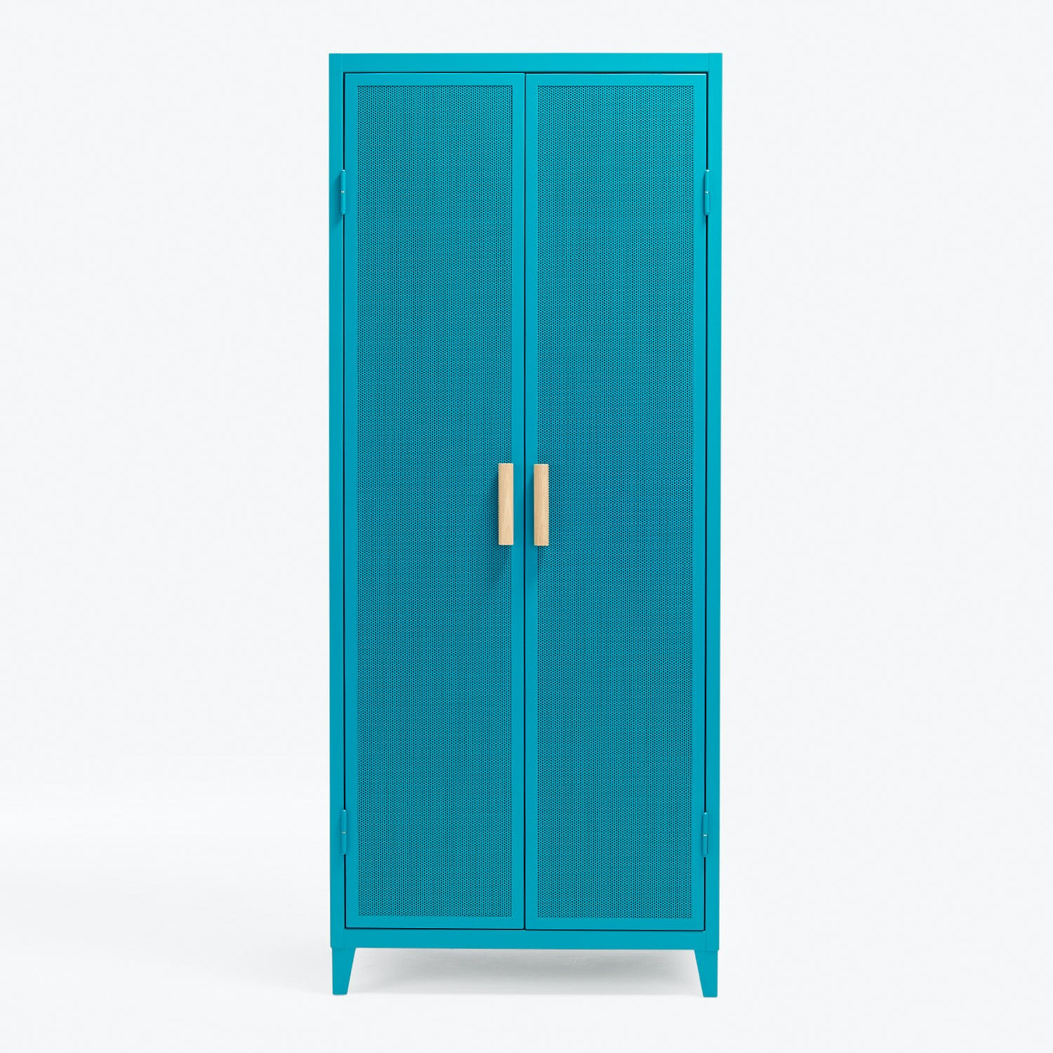 Product Image - Perforated 2-Door Locker Blue