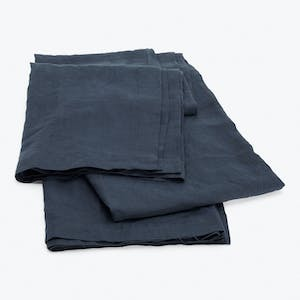 Product Image - Linen Fitted Sheet Navy