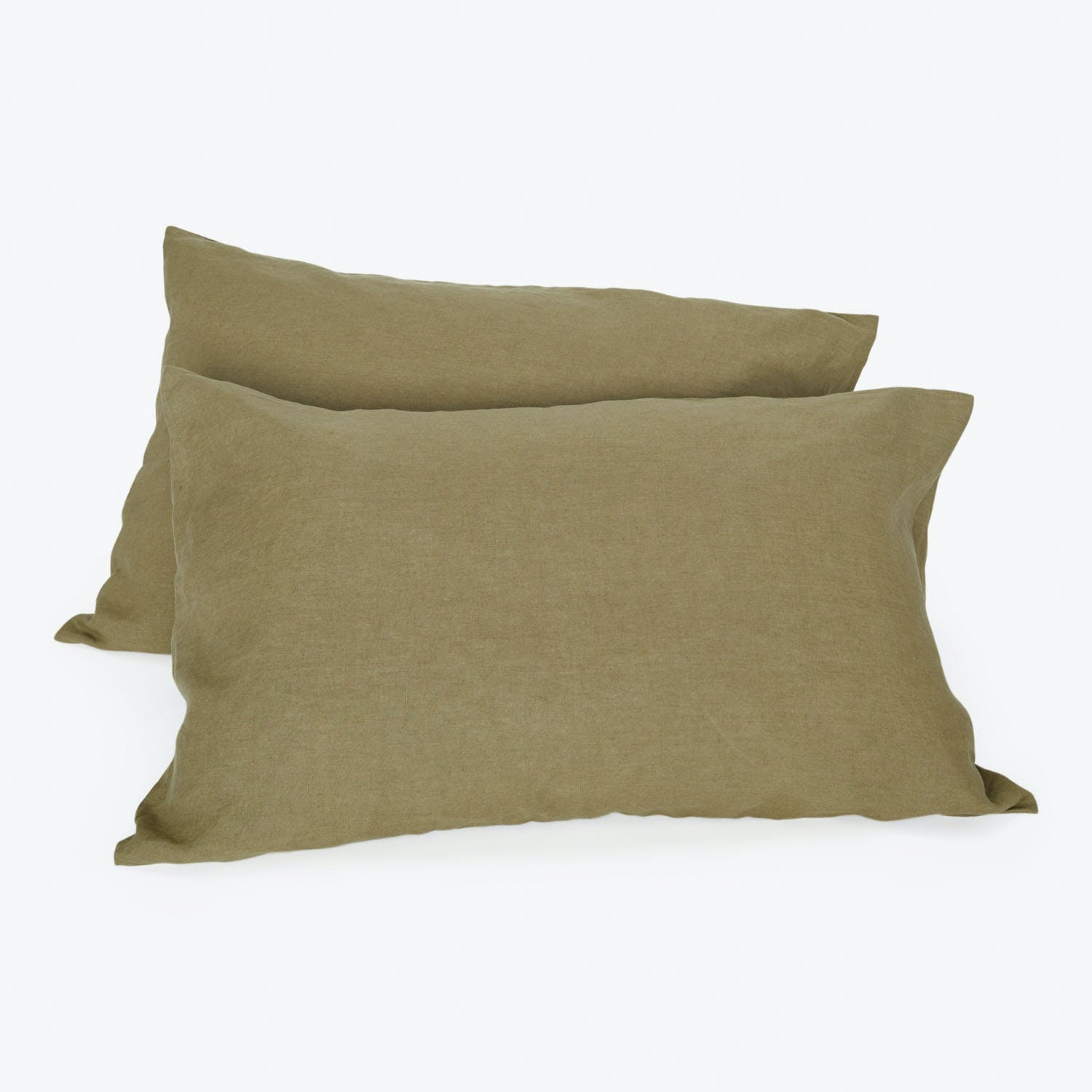 Product Image - Linen Standard Pillowcase Olive