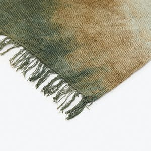 Product Image - Raw Silk Placemat Dark Green