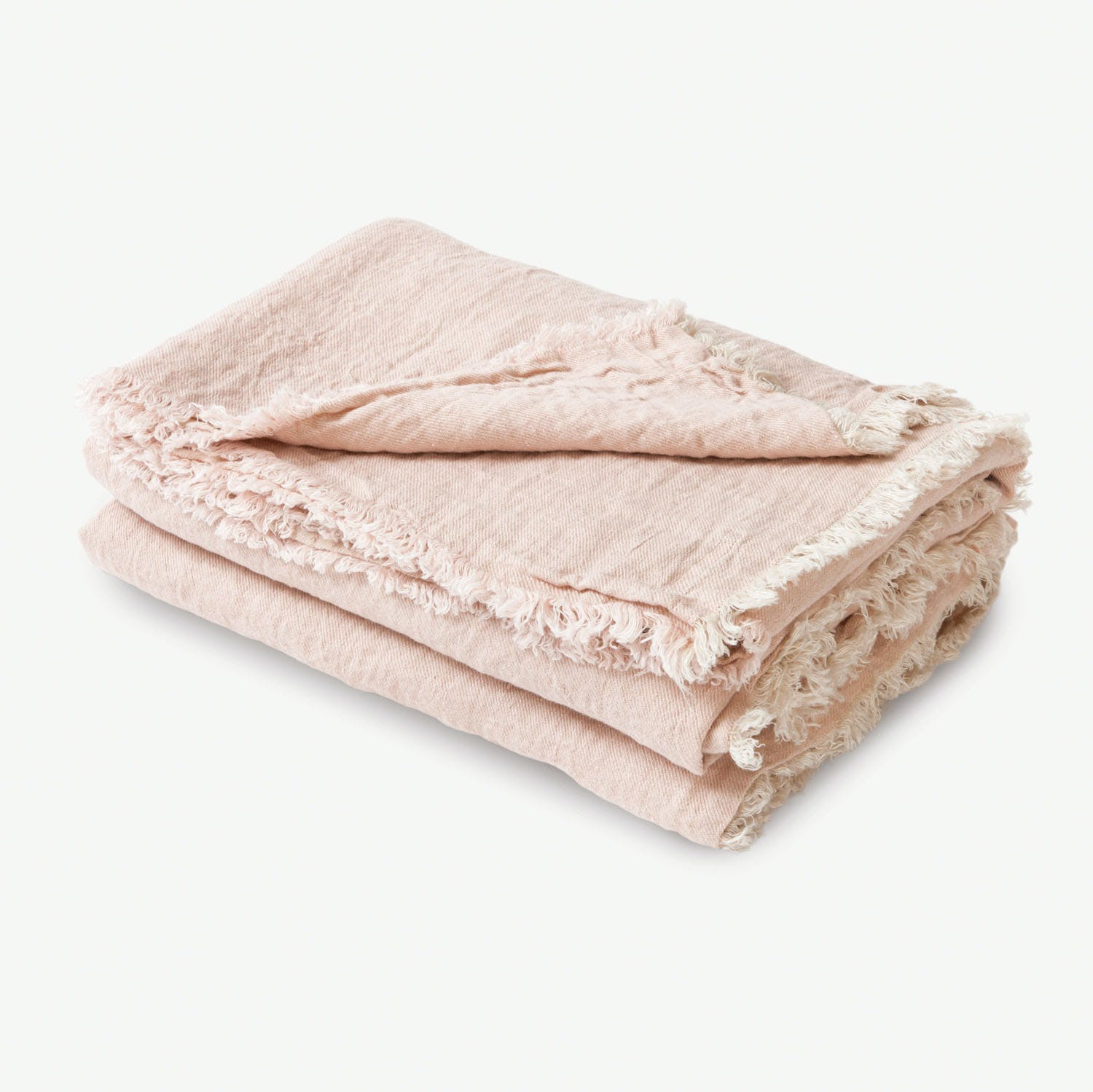 Washed Linen Throw Petal