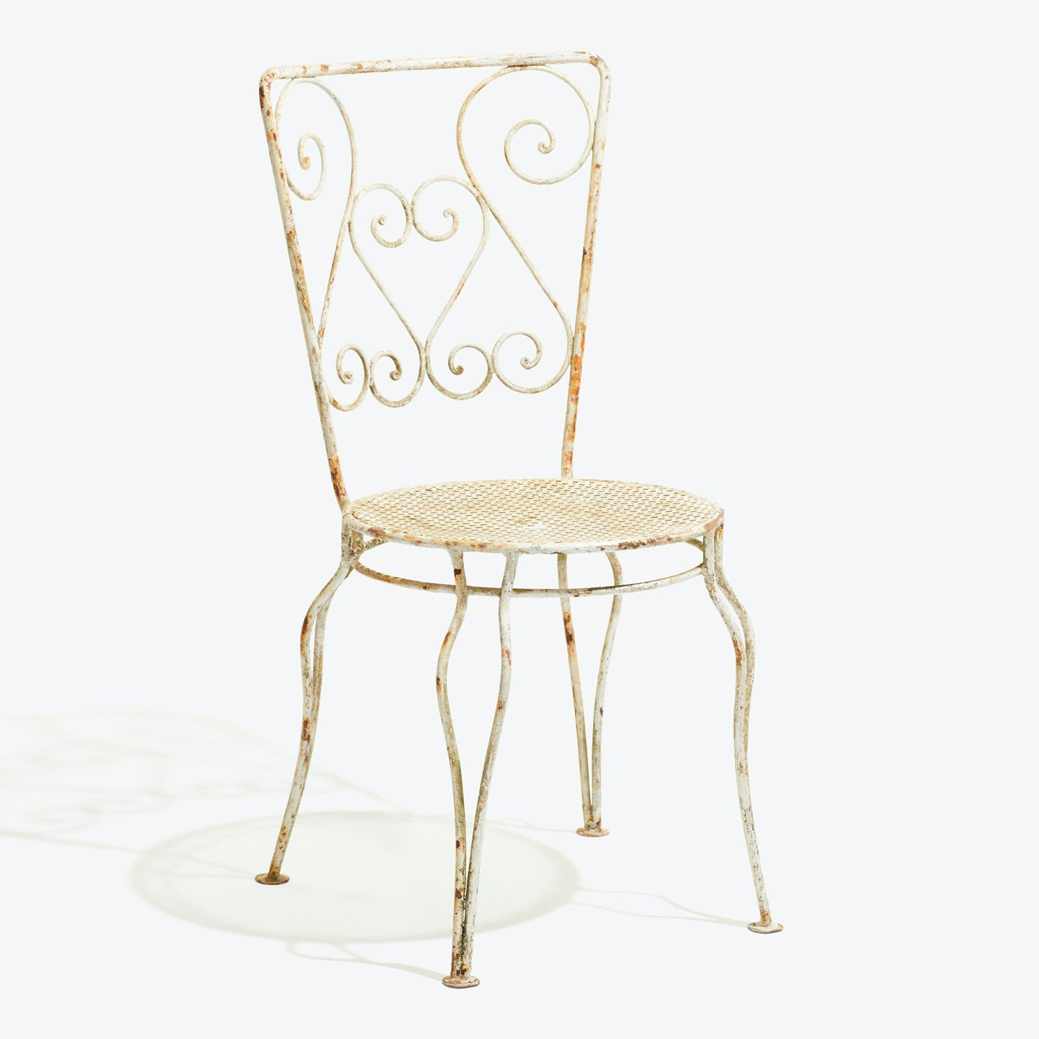 Antique Outdoor Side Chair White