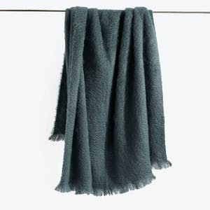 Product Image - Mohair Throw Forest