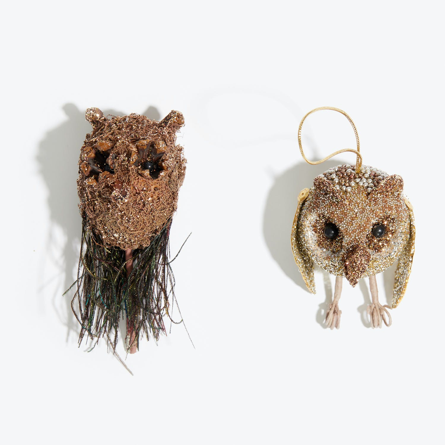 Owl Clip On Ornament Brown