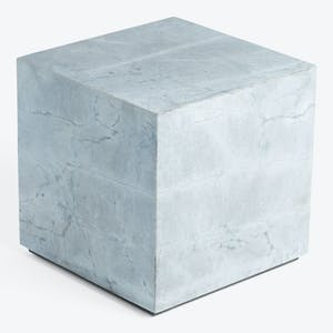 Product Image - Marble Block Side Table Blue