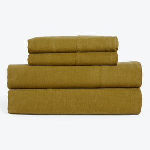 Product Image - Simple Linen Sheets + Pillowcases Bronze