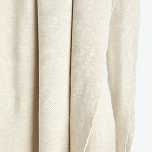 Product Image - Simple Oversize Knit Throw Ivory