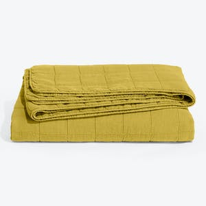 Product Image - Simple Linen Quilt Mustard