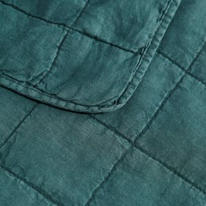 Product Image - Simple Linen Quilt Peacock