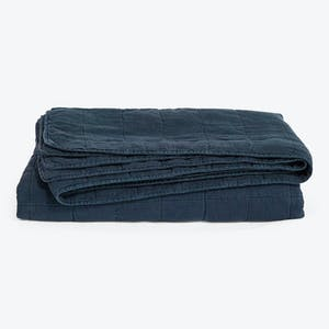Product Image - Simple Linen Quilt Navy