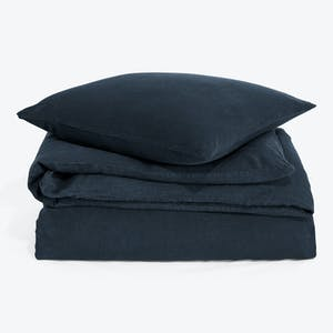 Product Image - Simple Linen Duvet + Shams Navy