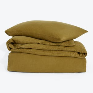 Product Image - Simple Linen Duvet + Shams Bronze