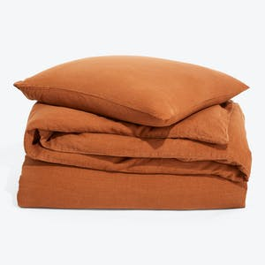 Product Image - Simple Linen Duvet + Sham Terracotta