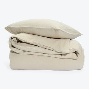 Product Image - Simple Linen Duvet + Shams Flax