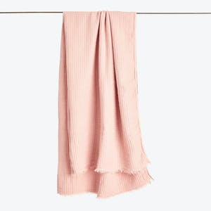 Product Image - Simple Linen Throw Blush