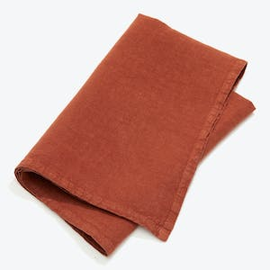 Product Image - Simple Linen Napkin Set of 4 Rust