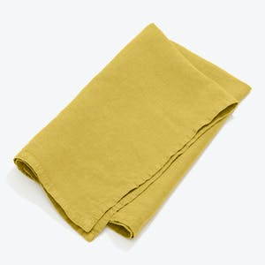 Product Image - Simple Linen Napkin Set of 4 Mustard