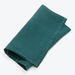 Product Image - Simple Linen Napkin Set of 4 Peacock