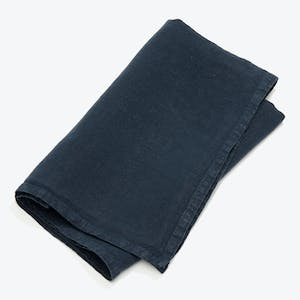 Product Image - Simple Linen Napkin Set of 4 Navy