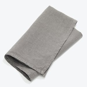 Product Image - Simple Linen Napkin Set of 4 Dark Gray