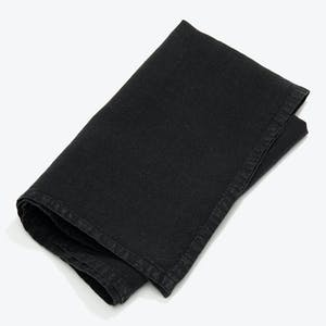 Product Image - Simple Linen Napkin Set of 4 Black