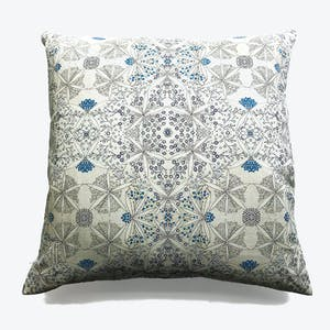 Product Image - Bloomful Journey Linen Pillow Powder Blue