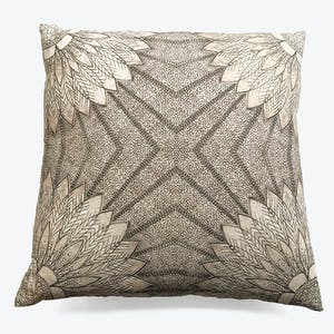 Product Image - Sunflower Radiance Reversible Linen Pillow Natural