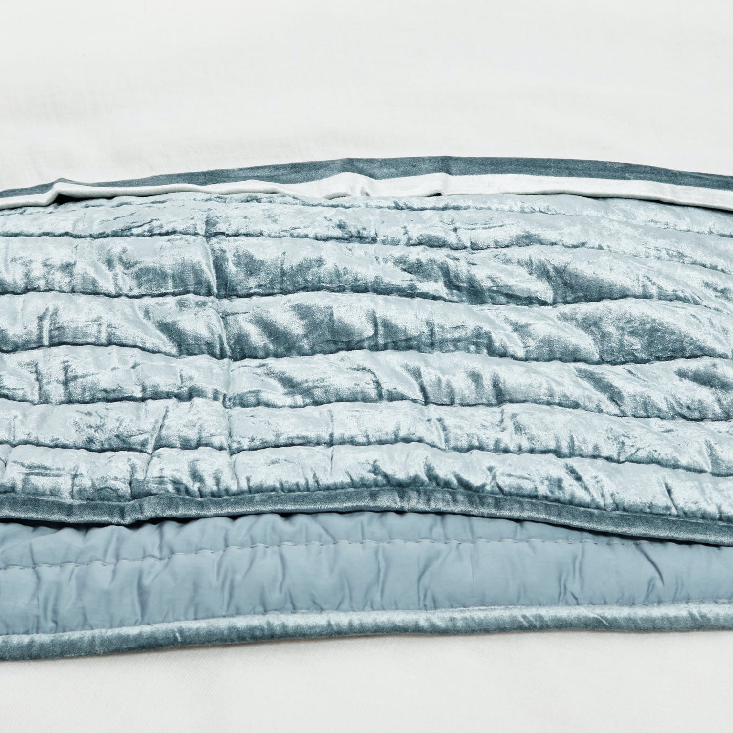 Kevin O'Brien Channel Velvet Quilted Coverlet Queen