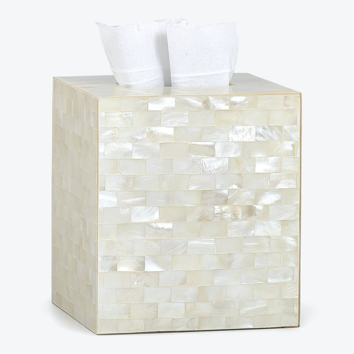 Agate Tissue Cover Opalescent Ivory