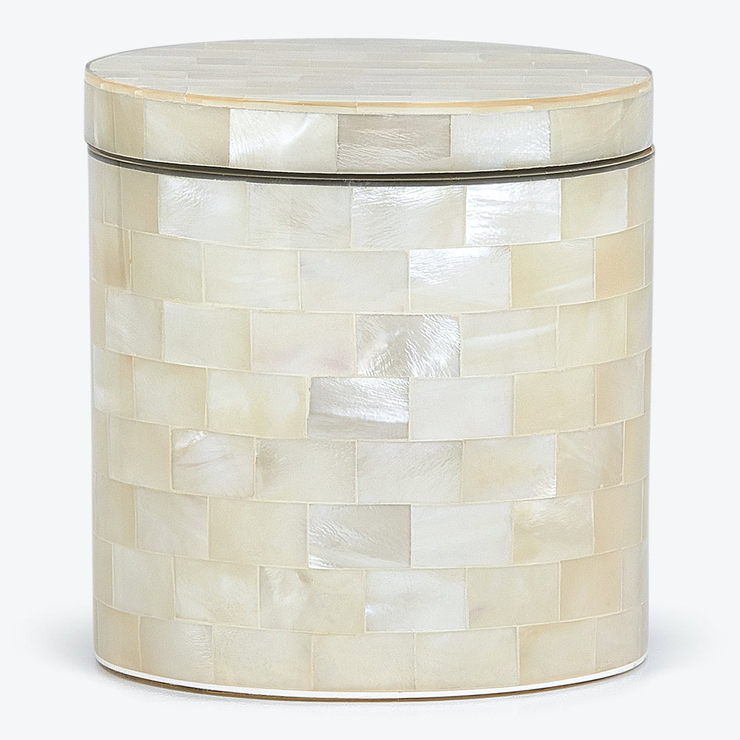 Agate Canister Opalescent Ivory