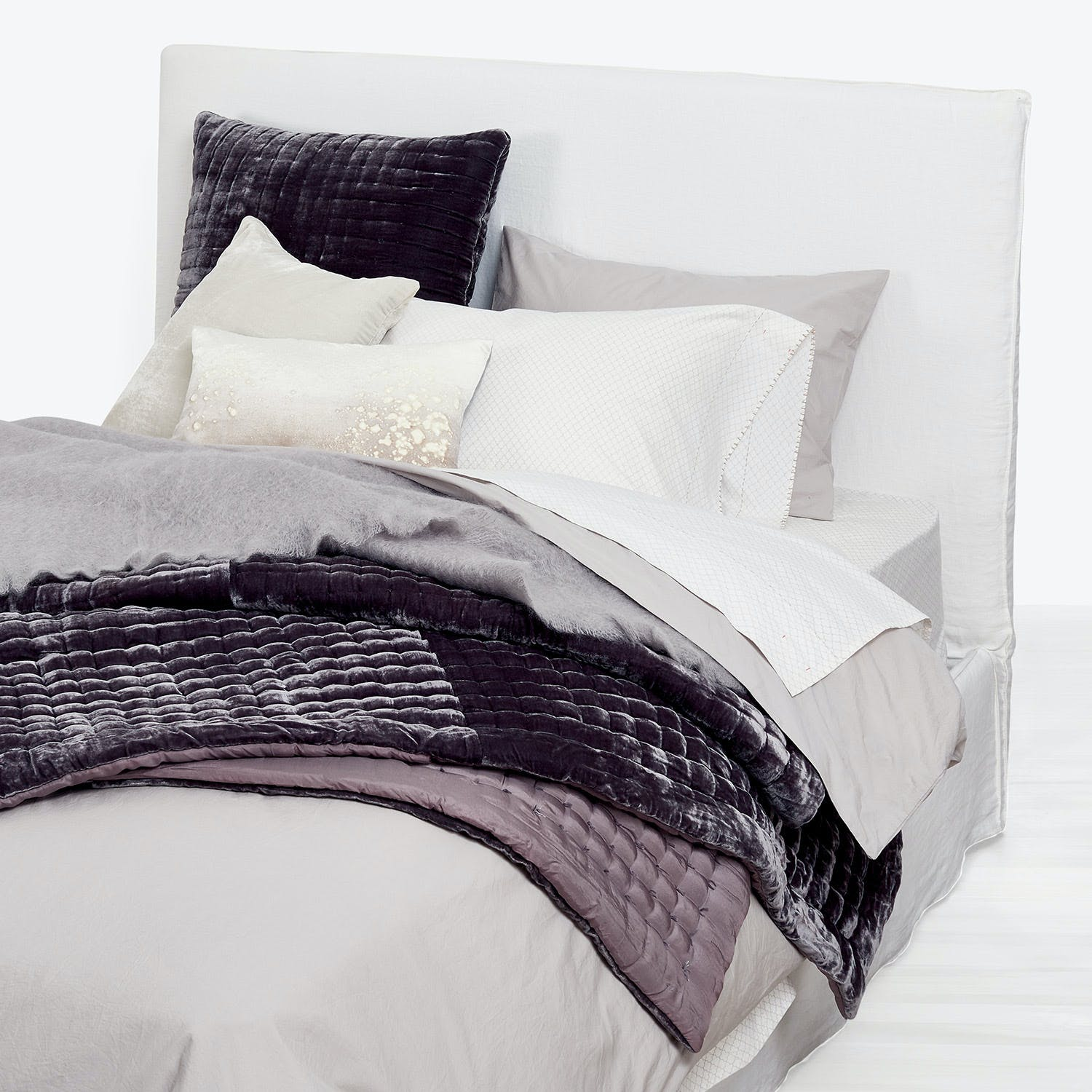 abcDNA Dreamweaver Queen Duvet Gray